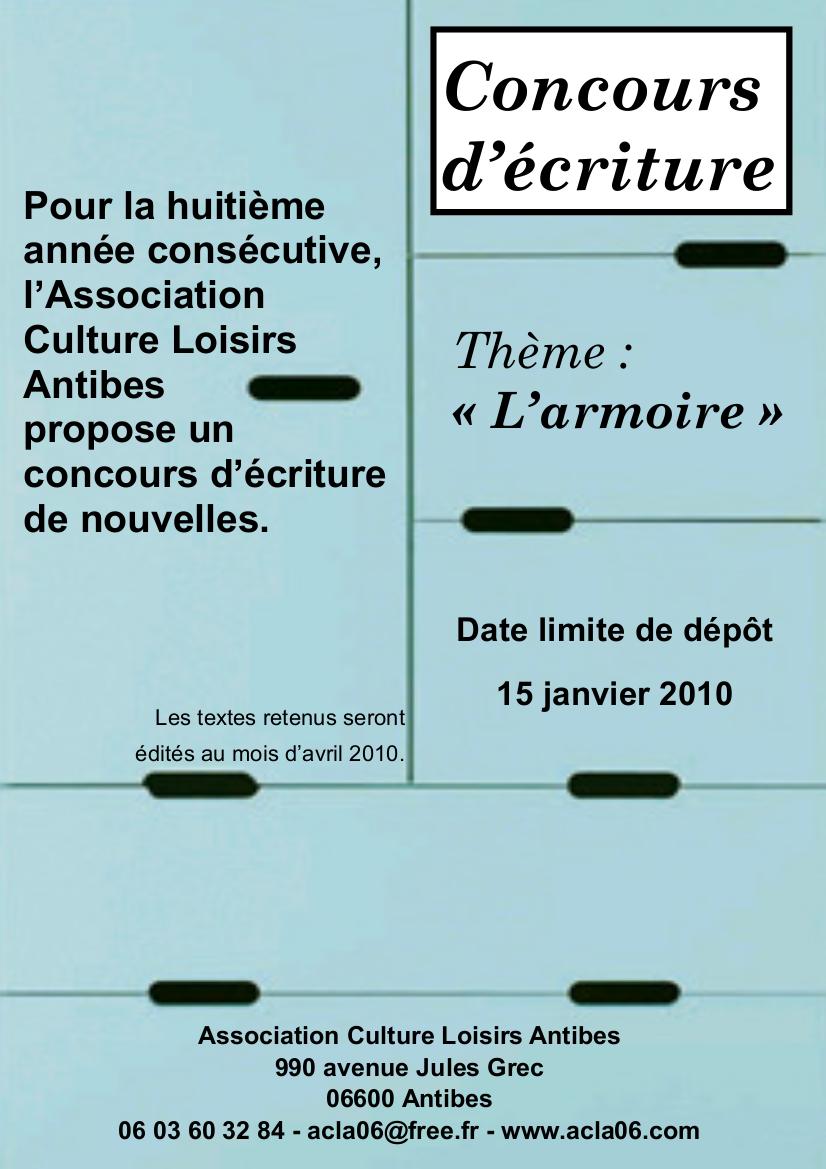 affiche concours ecriture 2010