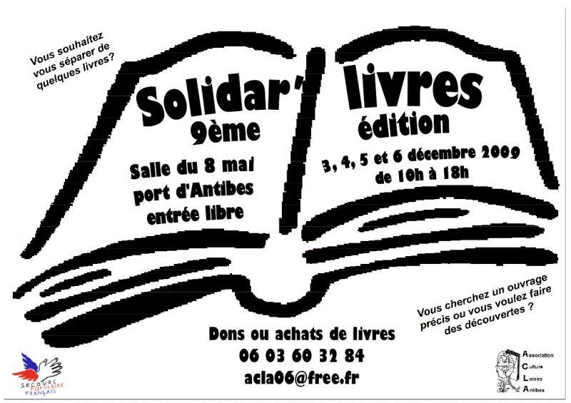 affiche solidar livres 2009