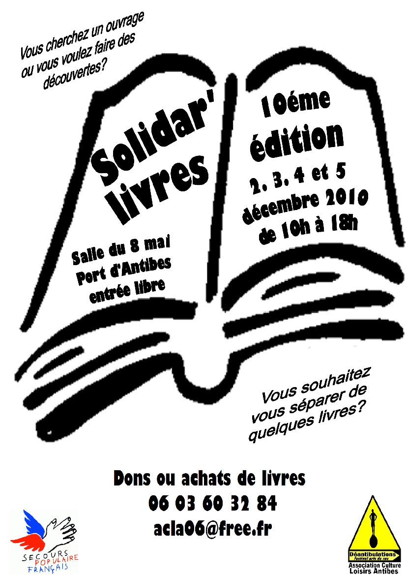 Affiche solidar'livres 2010